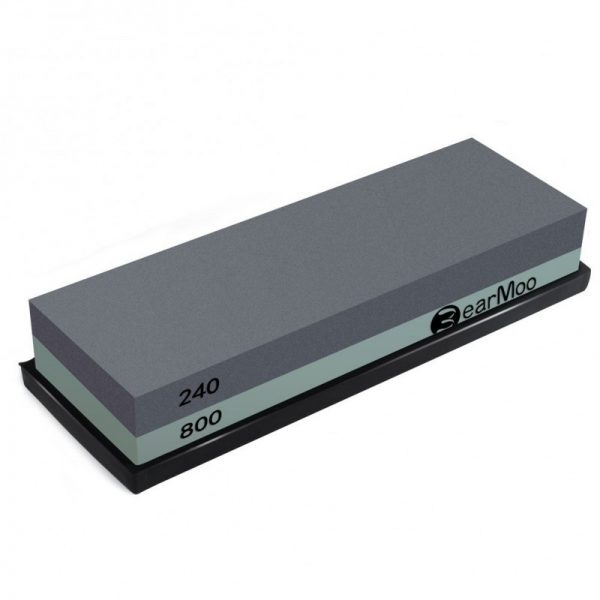 BearMoo Whetstone 2-IN-1 Sharpening Stone Grit Waterstone Knife