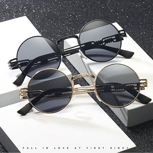 Dollger John Lennon Round Steampunk Sunglasses