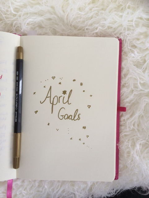 Monthly goals planner