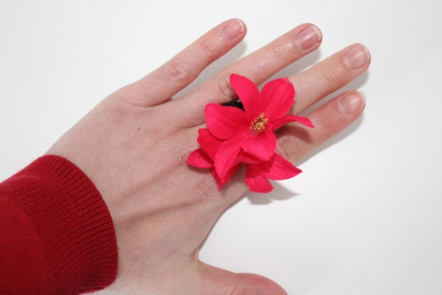 Handmade Fabric Flower Ring Tutorial