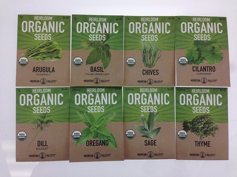 Mountain Valley Seed Company Organic Heirloom Seeds