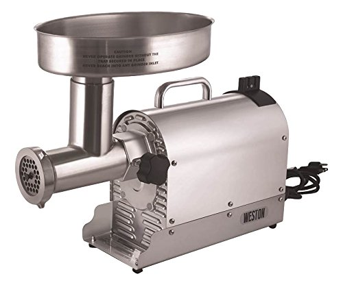 Weston (10-3201-W) Pro Series (2 HP, 1500 Watts) Electric Meat Grinder