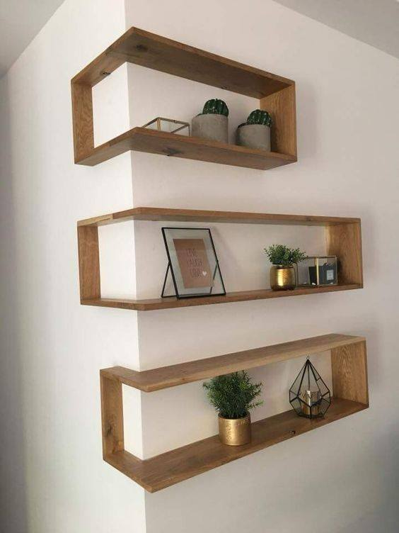 These Shelves Take Advantage Of Protruding Corners With A Clever Design And Interesting Earance