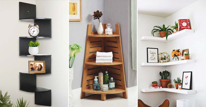 32 Grand Floating Corner Shelf Designs For New Renovation
