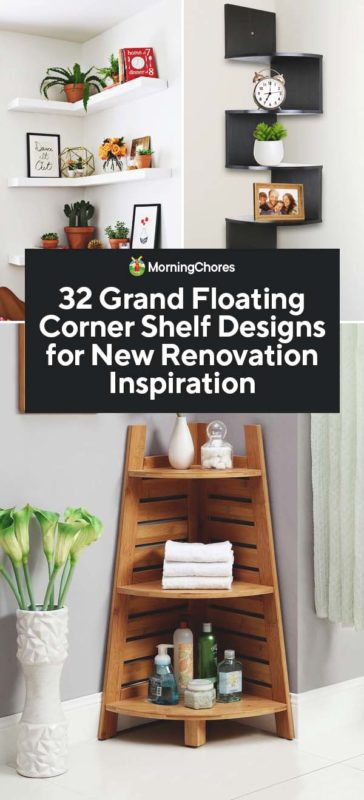 32 Grand Floating Corner Shelf Designs for New Renovation ...