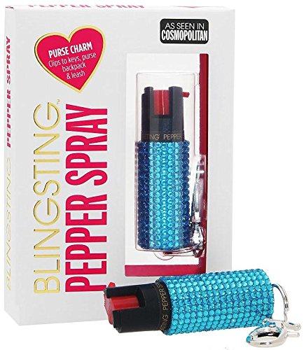BLINGSTING Rhinestone Pepper Spray Keychain