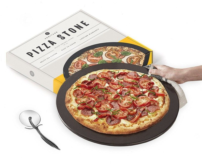 Heritage Products 15-inch Black Ceramic Pizza Stone