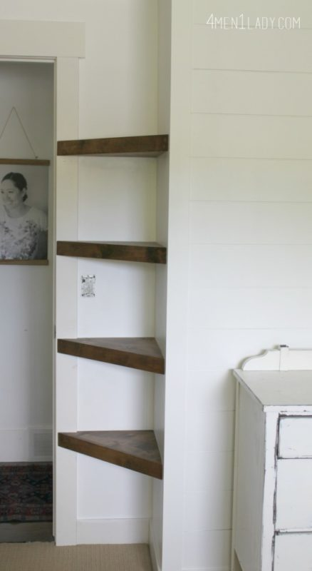 Make Use Of Those Awkward Corner Es By Giving A Small Room Some Much Needed Storage E