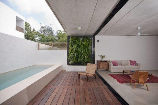 White concrete pool designs
