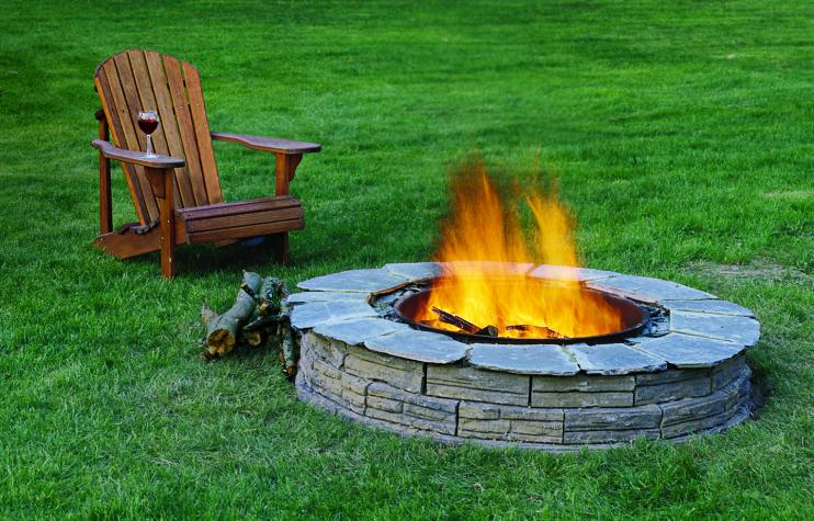 fire pit for relaxing homesteaders