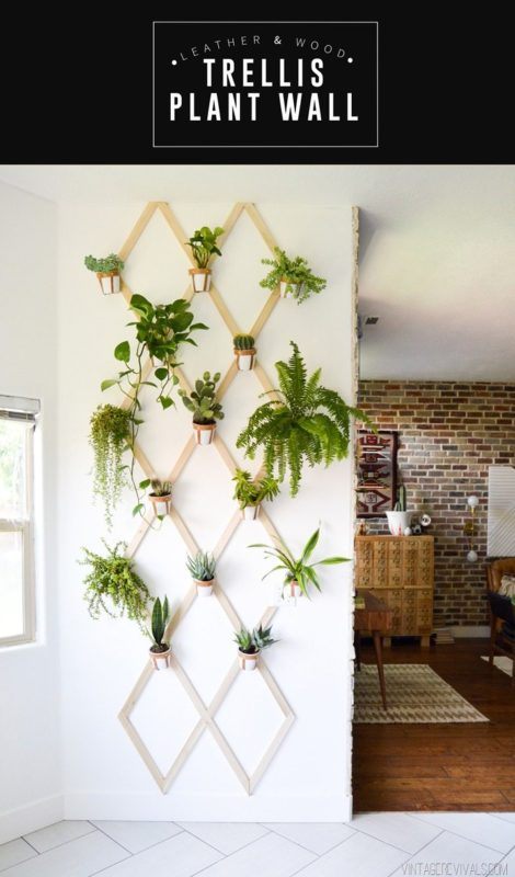 indoor vertical garden trellis shaped