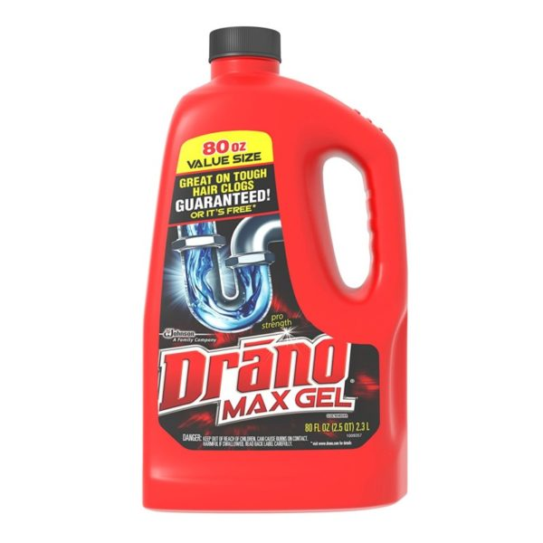 Drano Max Gel 80-Ounce Clog Remover Drain Cleaner