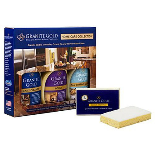 Granite Gold Home Care Collection Granite Cleaner, Polish And All-Surface Cleaner Combo Pack