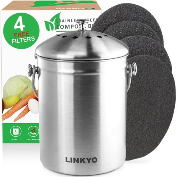 LINKYO 1-Gallon Compost Bin