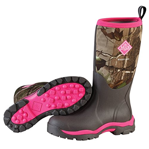 Muck Boots Company Women's Woody Pink Camo Real Tree Hunting Boots