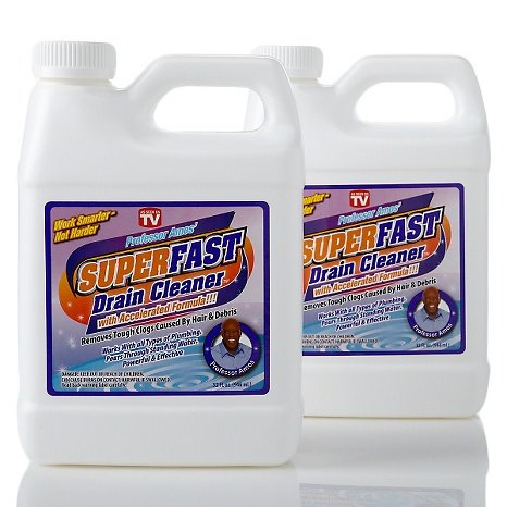 Professor Amos SuperFast 2-Pack 32oz Drain Cleaner