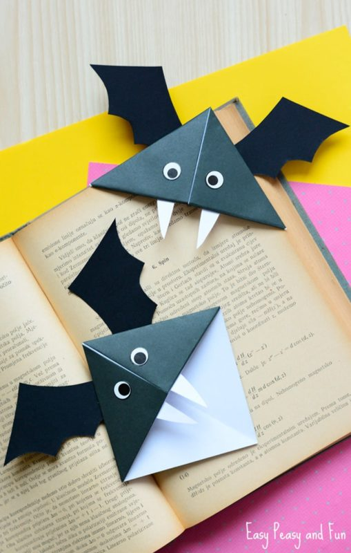 These are fun handmade bookmarks for your children's spooky books.