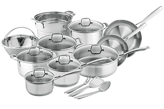 Chef's Star 17-Piece Professional Grade Induction Cookware