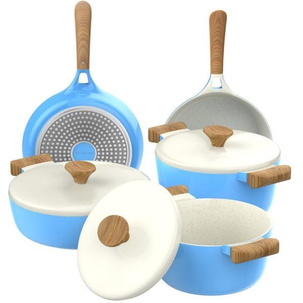 Vremi 8-Piece Ceramic Induction Cookware Set