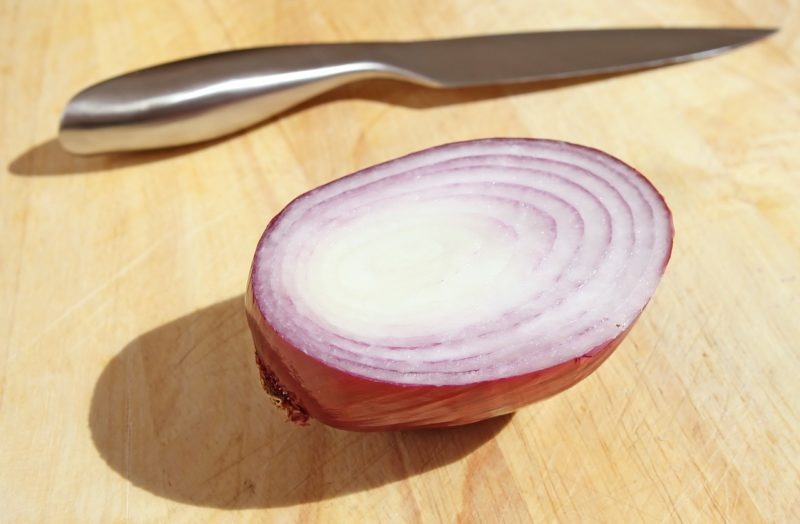 Onion to deter flies