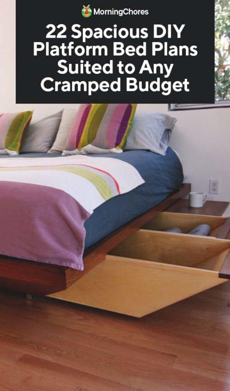 22 Spacious Diy Platform Bed Plans, Make Platform Bed With Storage