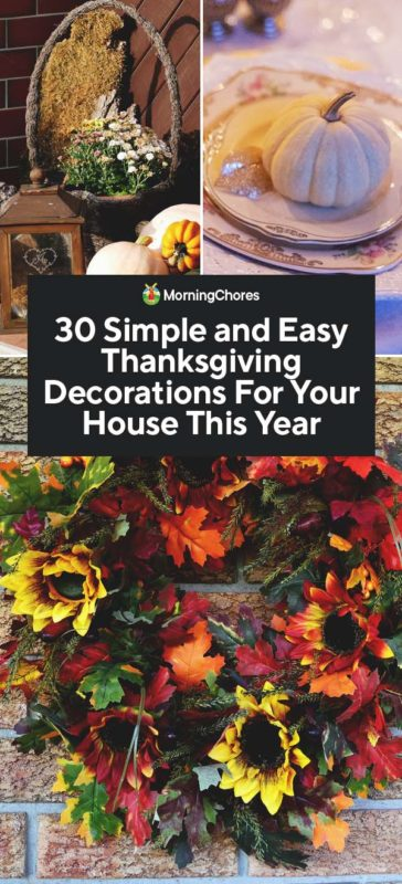 30 Delightful Thanksgiving Decorations For Your House