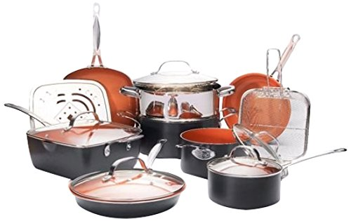 Gotham Steel Ultimate 15 Piece All-in-One Chef's Copper Cookware Set