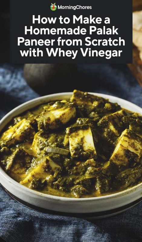 How To Make A Homemade Palak Paneer From Scratch With Whey Vinegar