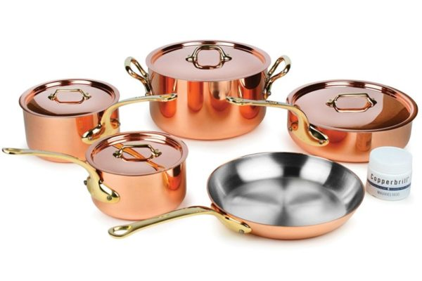 Mauviel M'heritage M250B 9-piece Copper Cookware
