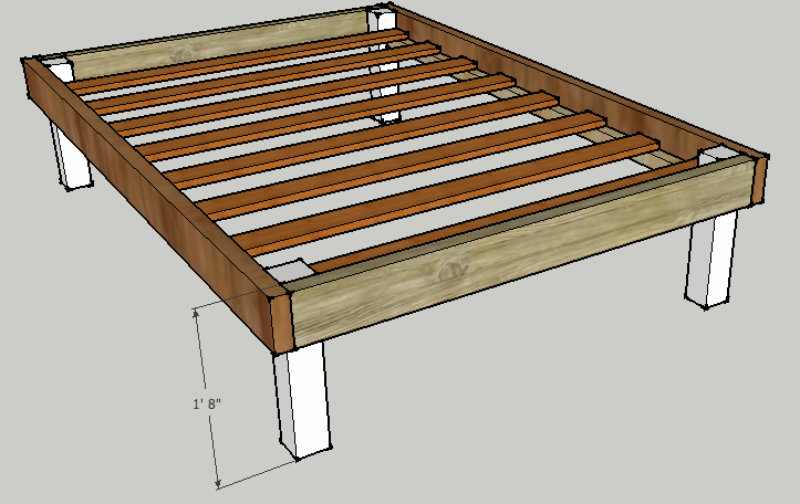 22 Spacious Diy Platform Bed Plans, How To Build A Simple Twin Bed