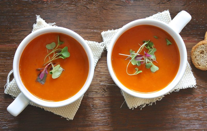 Soup with peppers
