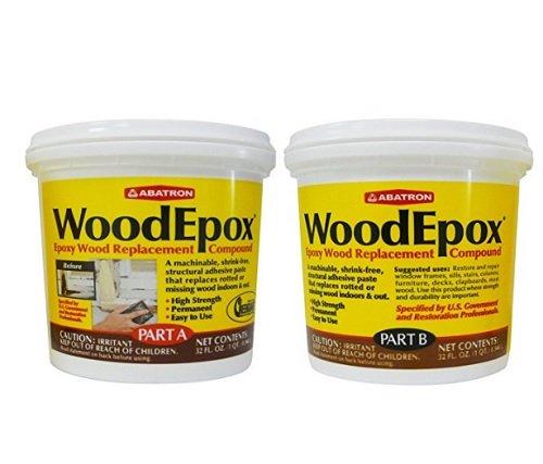 Abatron WoodEpox 2 Quart Kit, Part A & B Epoxy Wood Replacement Compound
