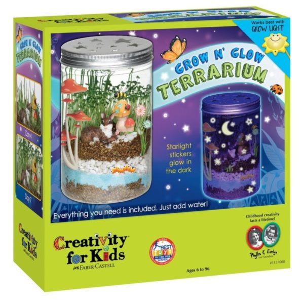 Creativity for Kids Grow 'N Glow Terrarium Science Kit for Kids