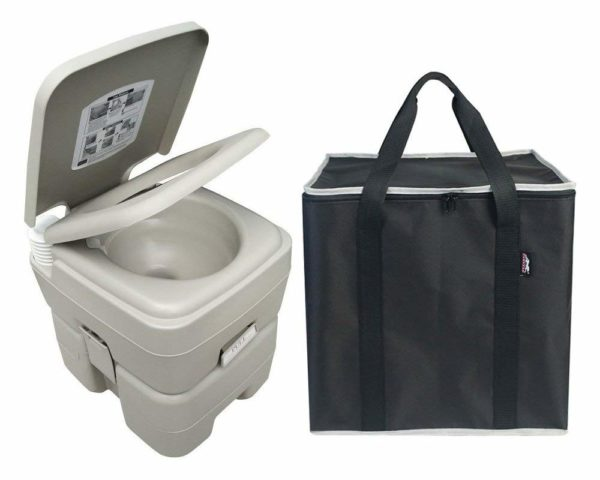 Leopard Outdoor Products Portable Travel Toilet with Storage Bag