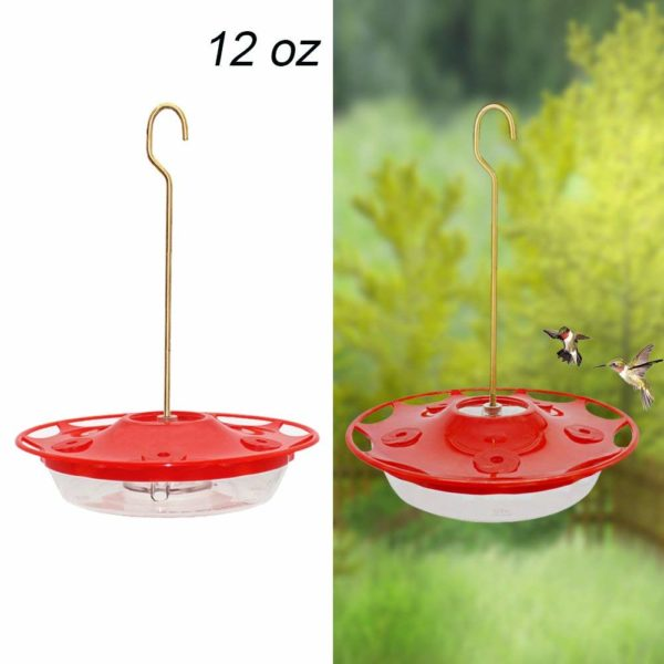MAGGIFT 12-ounce Hanging Dish Hummingbird Feeder