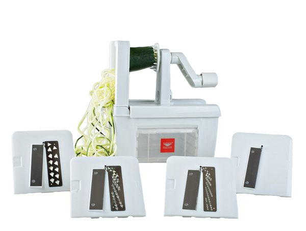 Paderno World Cuisine 4 Blade Folding Vegetable Spiralizer Pro
