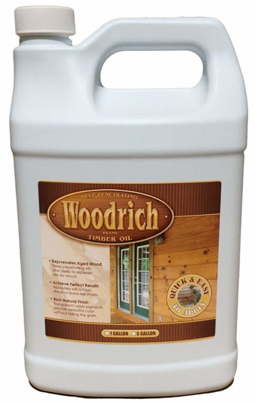 Woodrich Brand Timber Oil-Based Wood Stain for Decks