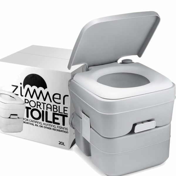 Zimmer 5-Gallon Portable Toilet Camping Porta Potty