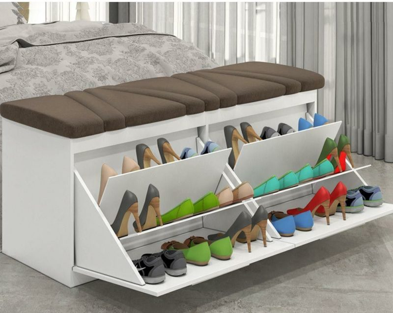This Shoe Rack Is Meant To Inspire You They Built A Bench And Intended For It Fit Inside Walk In Closet But Didn T Stop There