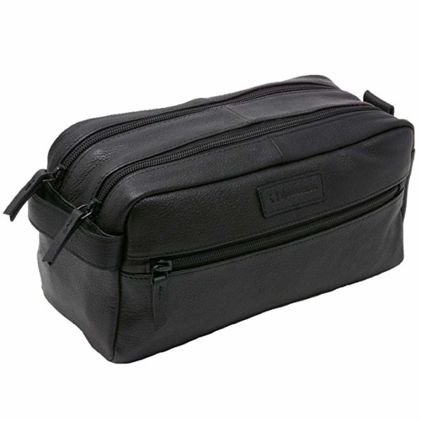 Alpine Swiss Sedona Genuine Leather Dopp Kit