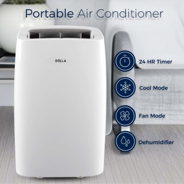 DELLA 12,000 BTU Cooling Portable Air Conditioner