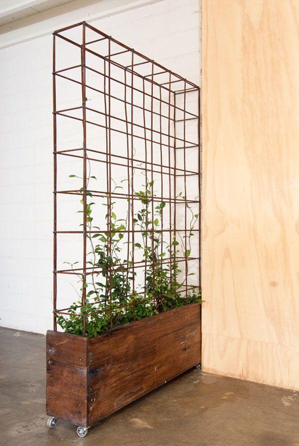 rolling planter room divider