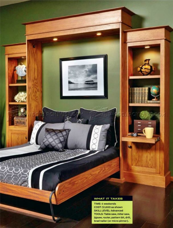 17 murphy bed plans and projects for the savvy space saver. Black Bedroom Furniture Sets. Home Design Ideas