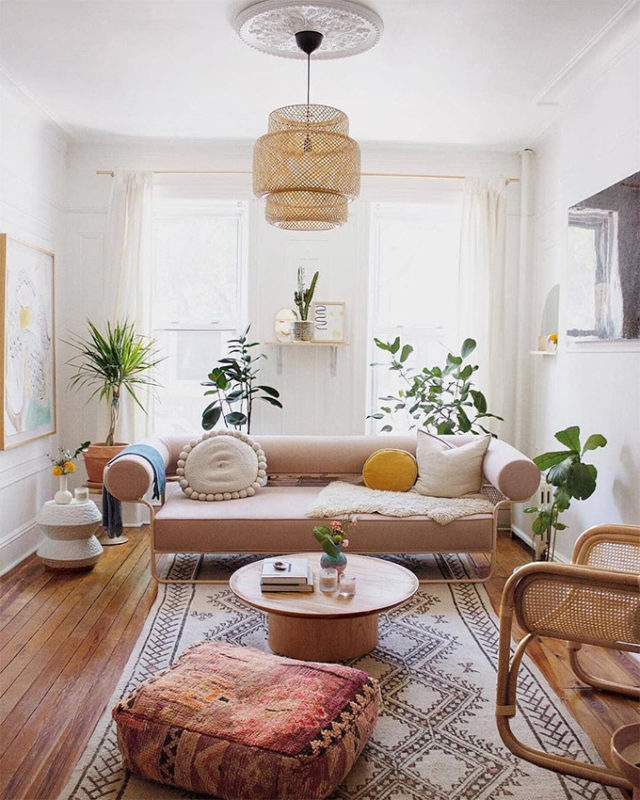 Small Boho Living Room