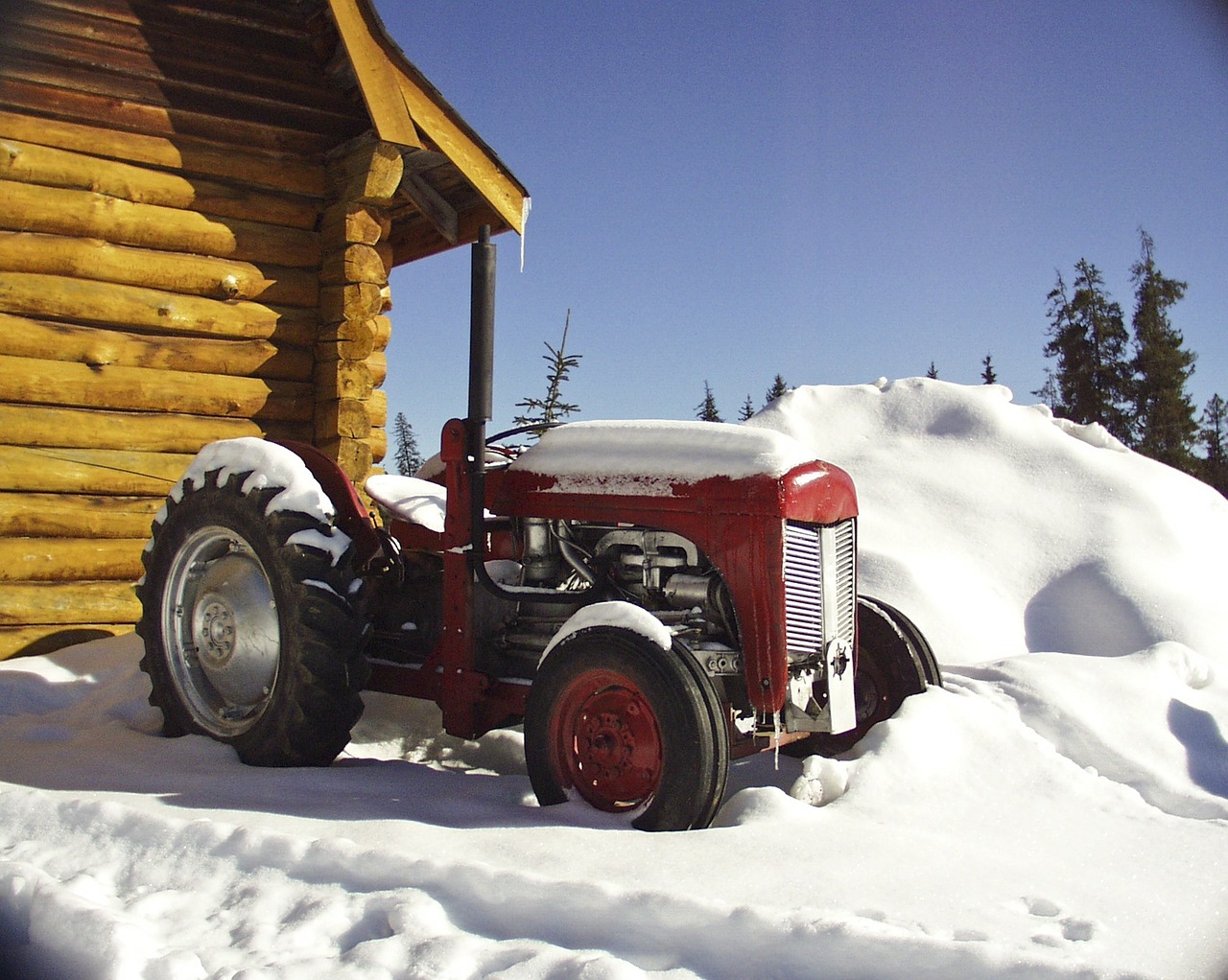 Winter storage tractor