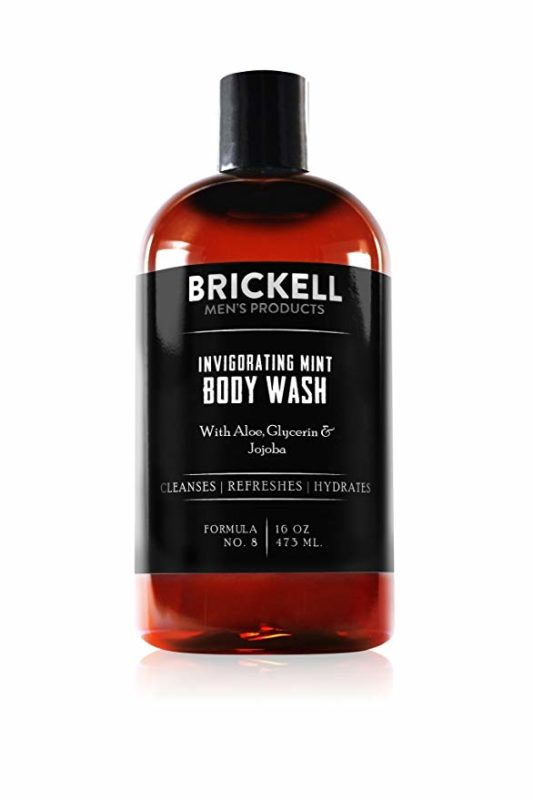Brickell Men's Products 16-ounce Men's Invigorating Mint Body Wash for Men