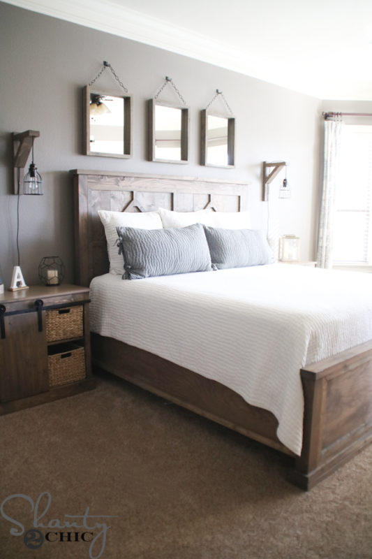 50 Rustic and Cozy Farmhouse Bedroom Designs For Your Next ...