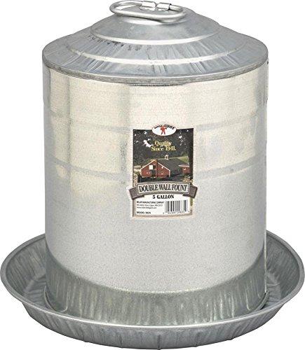 LITTLE GIANT 5-Gallon Galvanized Steel Chicken Waterer
