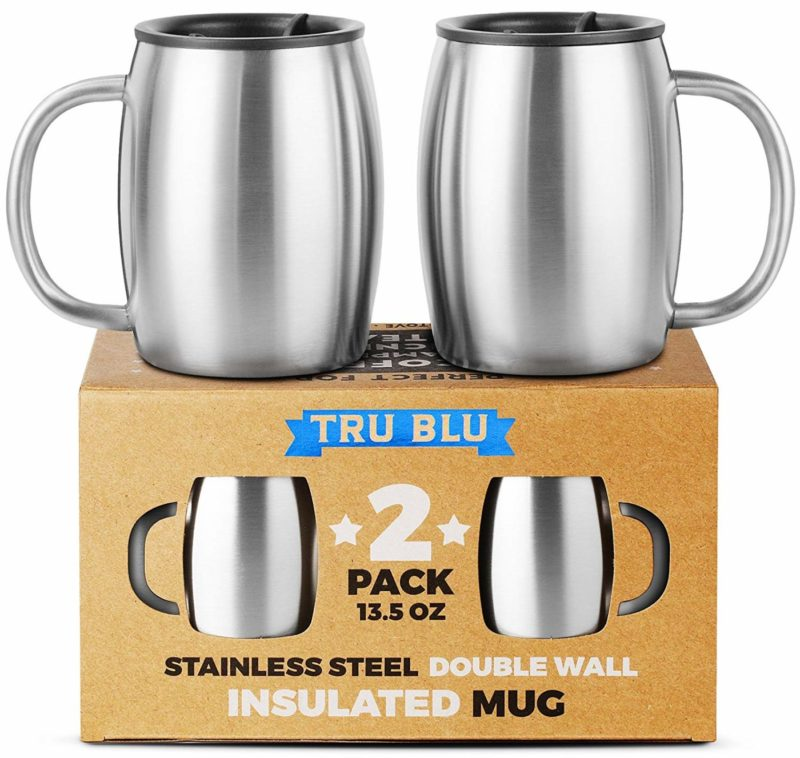 True Blu Steel Stainless Steel Coffee Mug Set of 2