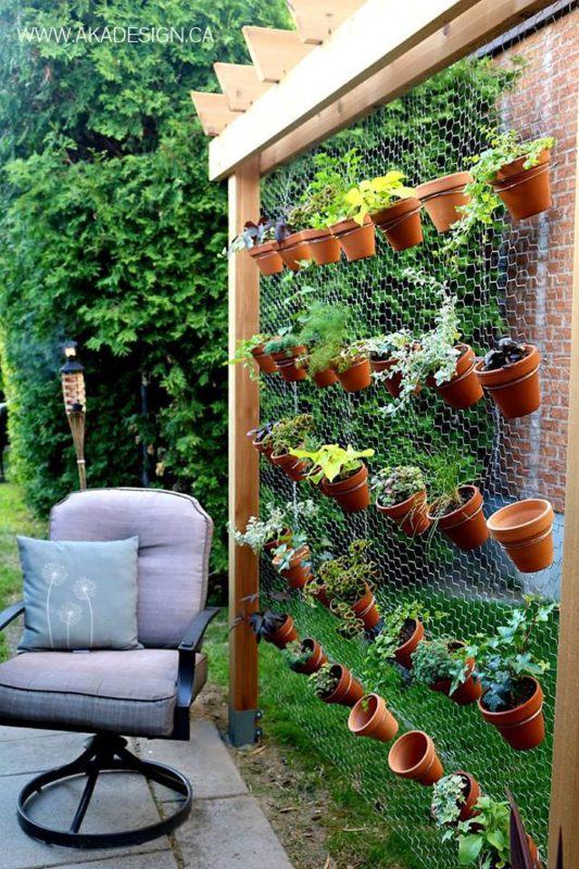 Hexagon Wire Netting Can Be A Useful Material On Your Creative Road To Vertical Herb Garden